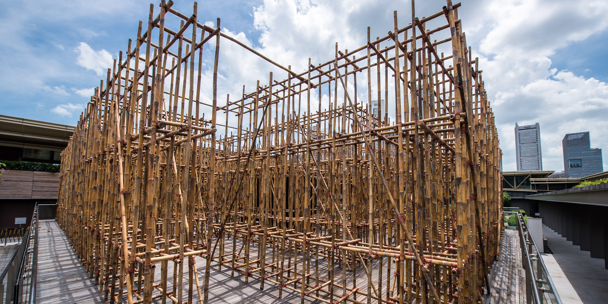 Va Faculty Member Rirkrit Tiravanija Creates Bamboo Maze